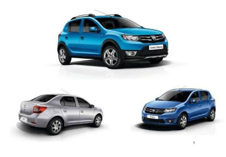 nuevos dacia sandero sandero stepway y logan. Black Bedroom Furniture Sets. Home Design Ideas