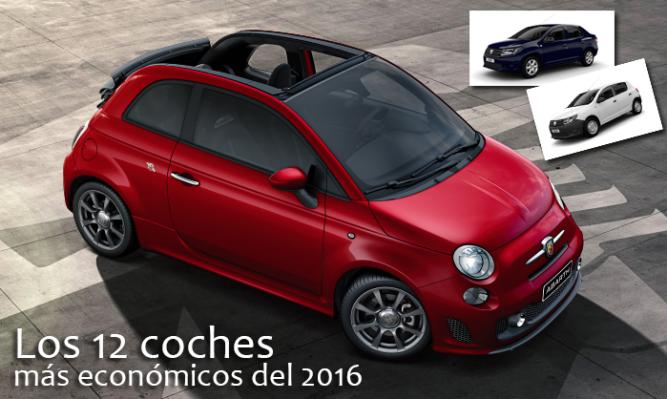 Los 12 coches más económicos del 2016