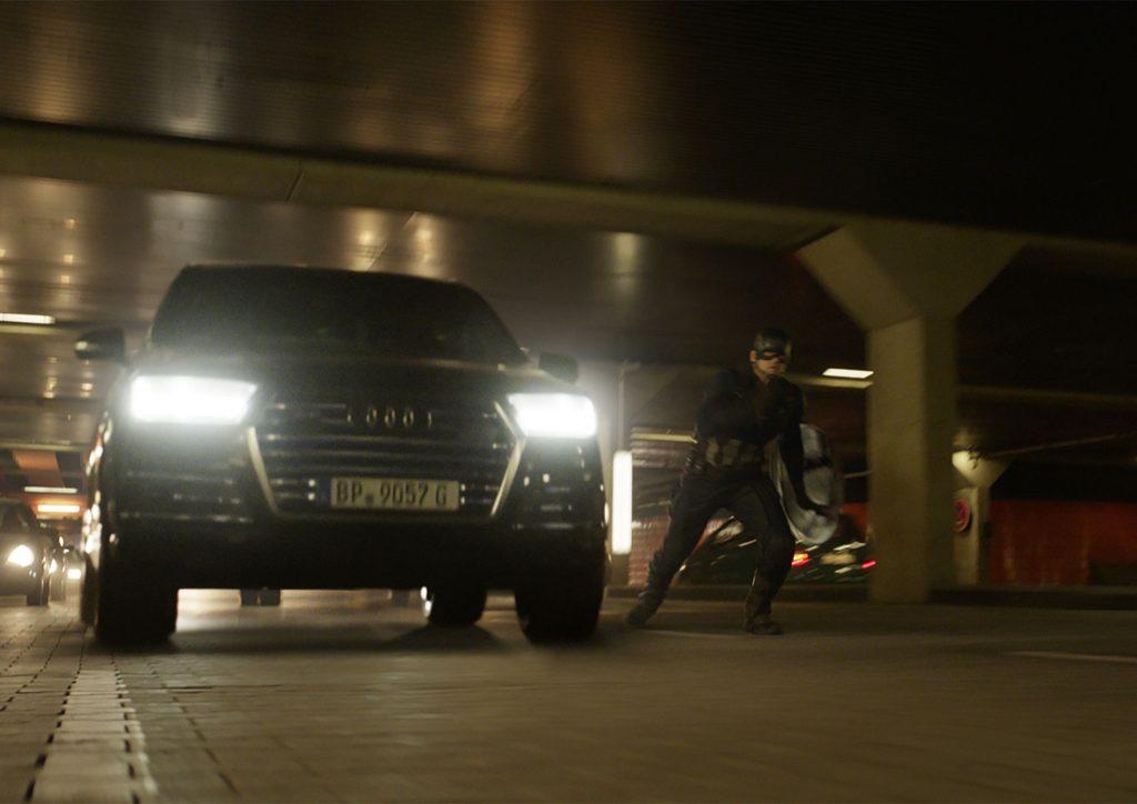 Audi SQ7 y el Capitán America