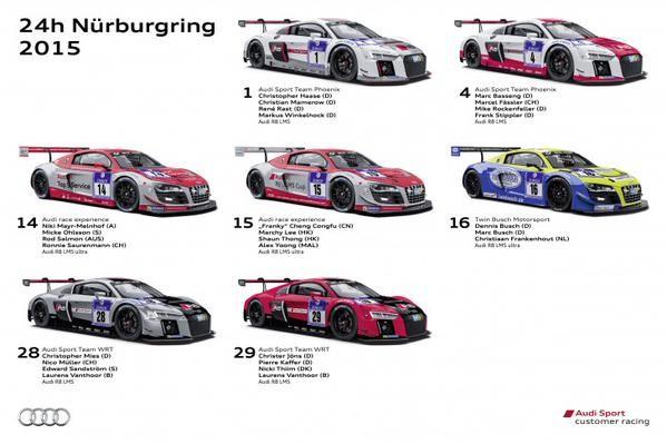 Audi en Nurburgring 2015