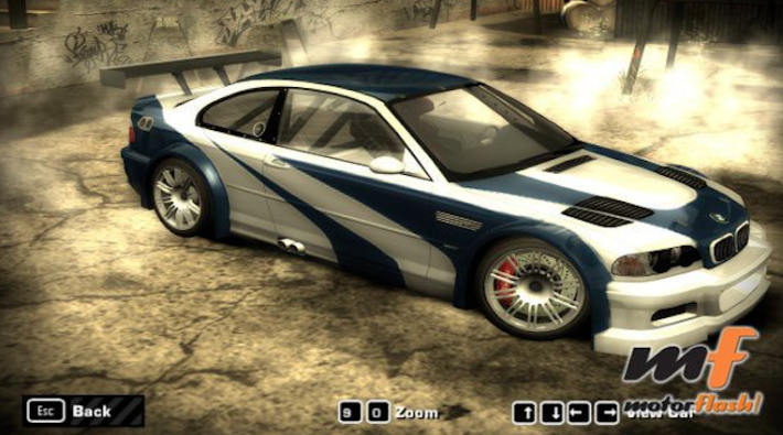 BMW M3 GTR Videojuego Moust Wanted