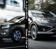 Comparativa Nissan X-Trail vs Honda CR-V