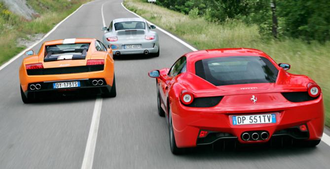 Jarama Race - Porsche Lamborghini Ferrari