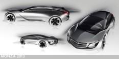 Salon Frankfurt 2013 Opel Monza Concept Diseño