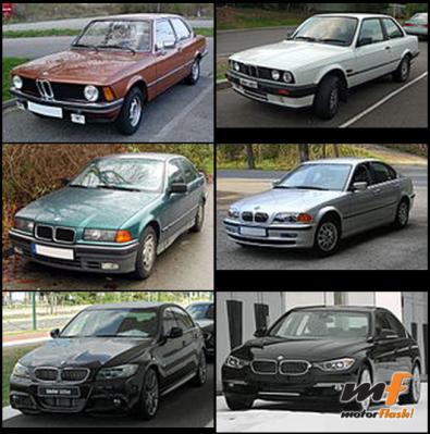 Todos los Serie 3 según E30, E21, E36, E46_result