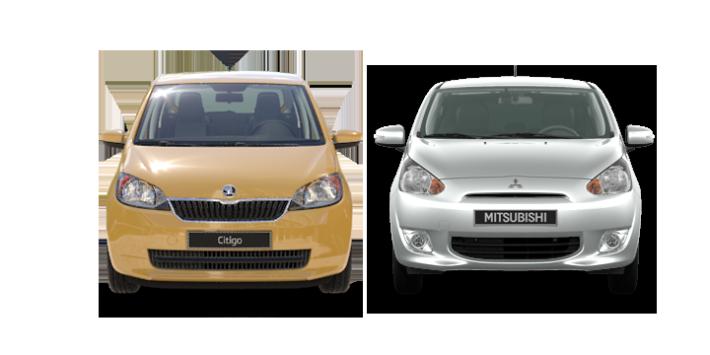 Comparativa Skoda Citigo vs. Mitsubishi Space Star