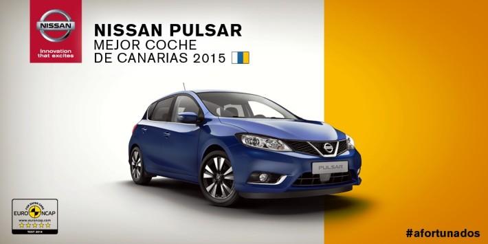 Nissan Pulsar, mejor coche de Canarias 2015
