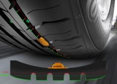 Neumáticos con sensores para medir el estado del dibujo