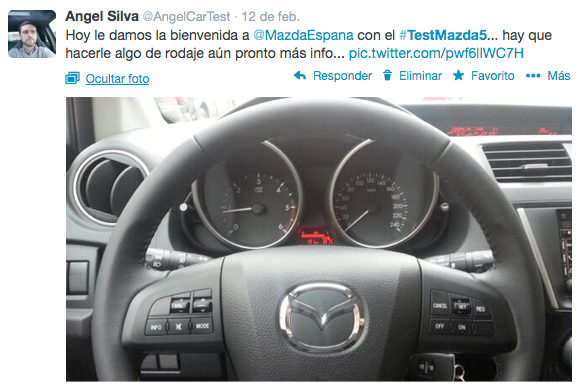 Tweet #TestMazda5